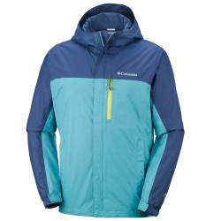 Rain jacket Columbia Pouring Adventure II Man teal