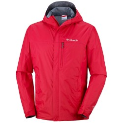 Rain jacket Columbia Pouring Adventure II Man red
