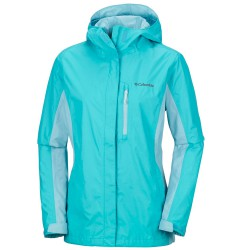 Rain jacket Columbia Pouring Adventure II Woman teal
