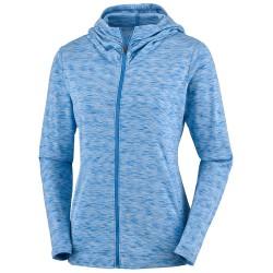 Sweat-shirt trekking Columbia Outerspaced Femme bleu clair
