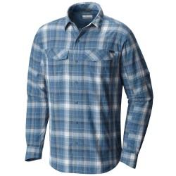 Camisa trekking Columbia Silver Ridge Hombre azul-blanco