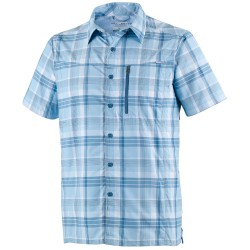 Camisa trekking Columbia Silver Ridge Hombre blanco-azul