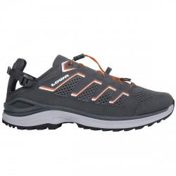 Zapatos trekking Lowa Madison Lo Hombre gris-naranja