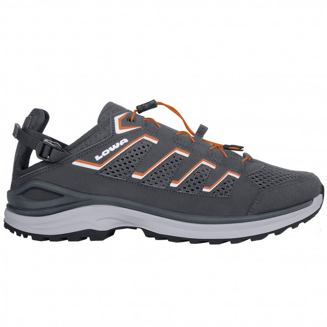 Chaussures trekking Lowa Madison Lo Homme gris-orange