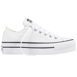 Sneakers Converse All Star Platform Chuck Taylor Donna bianco