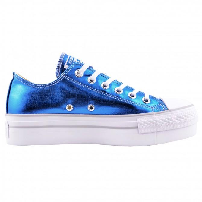 d3e9cf86fc Sneakers Converse All Star Platform Chuck Taylor Metallic Woman royal