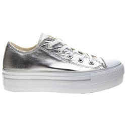 Sneakers Converse All Star Platform Chuck Taylor Metallic Mujer plata
