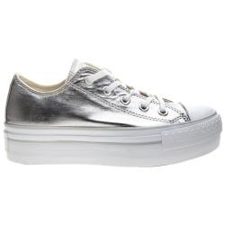 Sneakers Converse All Star Platform Chuck Taylor Metallic Mujer plata