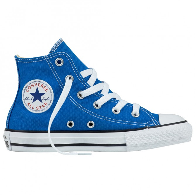 Scarpa Converse All Star Hi Canvas seasonal azzurro-bianco