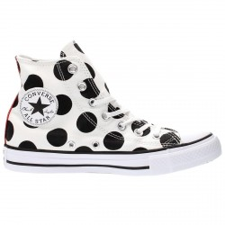 Sneakers Converse All Star Canvas Print Donna bianco-nero