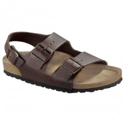Sandales Birkenstock Milano Homme brun