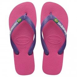 Flip-flop Havaianas Brasil Logo raspberry