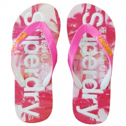 Chancla Superdry Aop Mujer fucsia