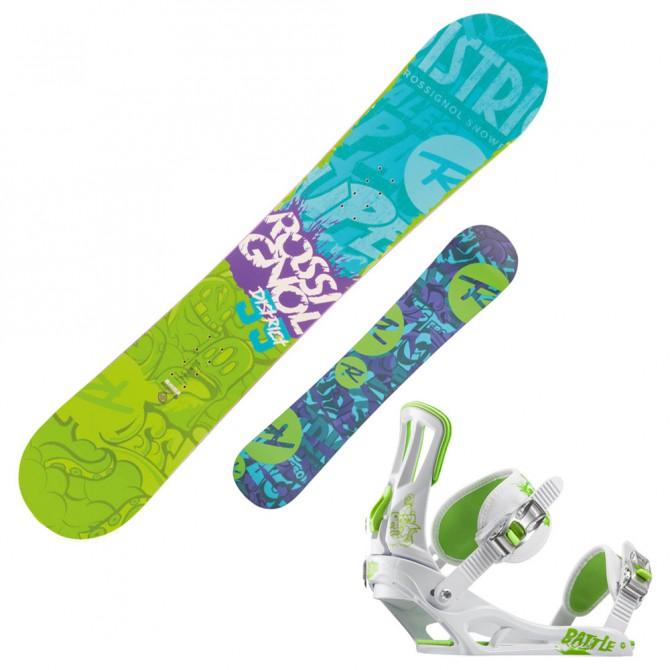 snowboard Rossignol District Amptek Q Wide + attacchi Battle V2 m/l