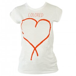t-shirt Colored Revolution Love mujer