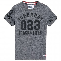 T-shirt Superdry Trackster Homme gris