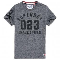 T-shirt Superdry Trackster Uomo grigio