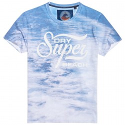 T-shirt Superdry 77 Swim Uomo blu