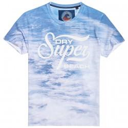 T-shirt Superdry 77 Swim Hombre azul