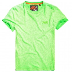 T-shirt Superdry Low Rollert Man lime