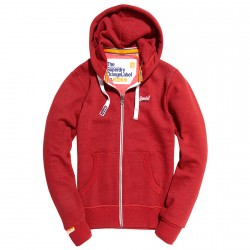 Felpa Super Dry Orange label rosso