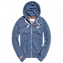 Felpa Super Dry Orange label azzurro melange