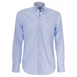 Camisa Canottieri Portofino Hombre azul-blanco