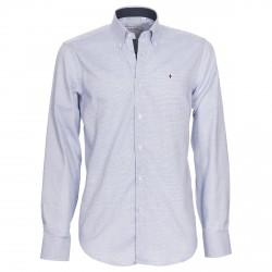 Chemise Canottieri Portofino Homme à carreaux bleu-blanc