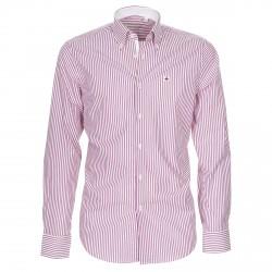Camicia Canottieri Portofino Uomo a righe bianco-rosa