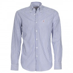 Camisa Canottieri Portofino Hombre rayas blanco-azul