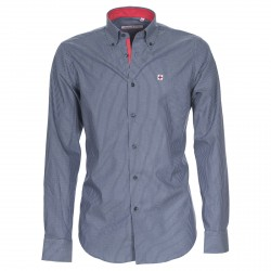Camicia Canottieri Portofino Uomo a righe blu-bianco