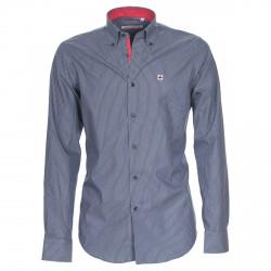 Camisa Canottieri Portofino Hombre rayas azul-blanco