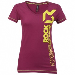 T-shirt trekking Rock Experience Rock Femme violet