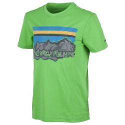 T-shirt trekking Cmp Junior verde-grigio