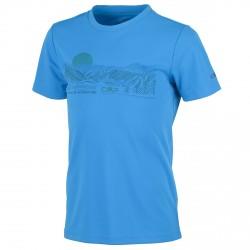 T-shirt trekking Cmp Junior light blue-white-orange