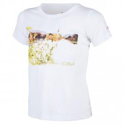 T-shirt trekking Cmp Girl white