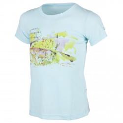 T-shirt trekking Cmp Girl azul claro