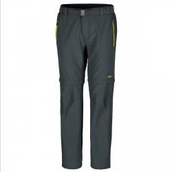 Pantalon trekking Cmp Zip Off Homme gris-lime