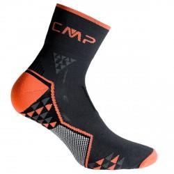 Chaussettes trail running Cmp Skinlife noir-orange