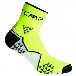 Calze trail running Cmp Skinlife giallo fluo