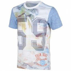 T-shirt Cmp Junior bianco-azzurro