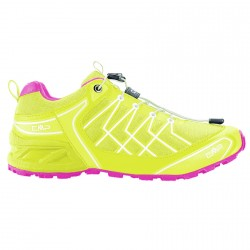 Chaussures trail running Cmp Super X Femme lime-rose
