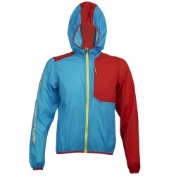 Windstopper trekking Rock Experience Ultra Homme rouge-bleu clair