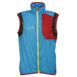 CLOUD Gilet Rock Experience Azzurro-Rosso-Lime