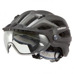 Casco ciclismo Slokker Penegal nero
