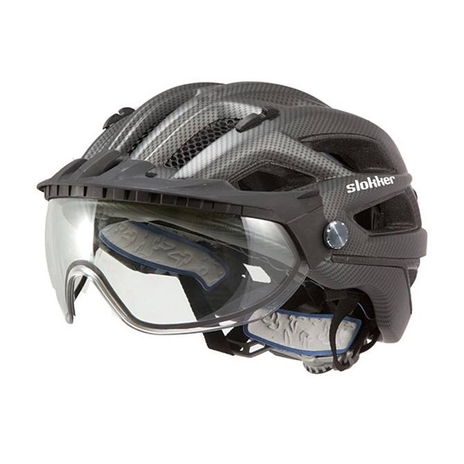 Casco ciclismo Slokker Penegal negro