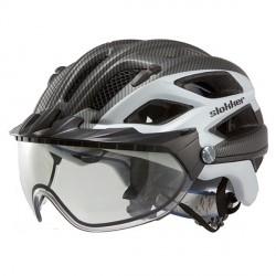 Casco ciclismo Slokker Penegal nero-bianco