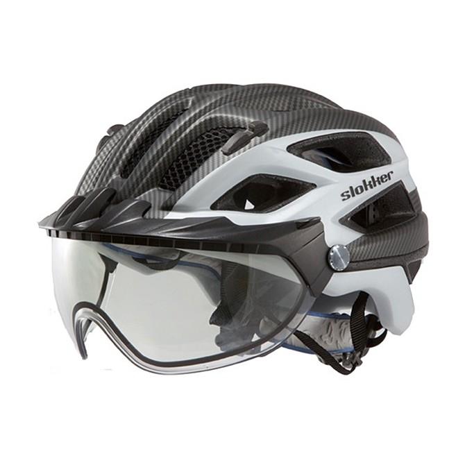 Casco ciclismo Slokker Penegal negro-blanco