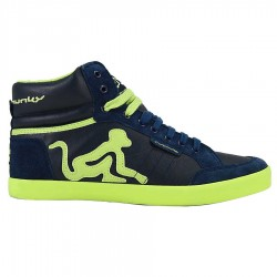 chaussures Drunknmunky Boston Retro bleu-chaux homme