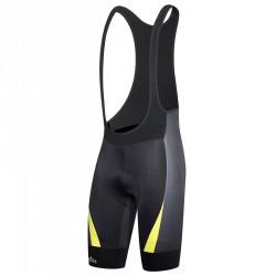 Salopette cyclisme Zero Rh+ Shiver Homme noir-jaune